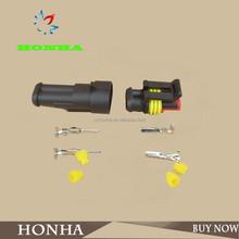282080-1 DJ7021-1.5-11/21 2P auto connector waterproof automotive Wire Connector Plug 2 Pins Electrical Car Motorcycle HID