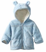 Chilren's cappotti invernali con cappuccio di pelliccia bambini cappotto a maglia