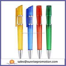 Clip printing novelty spring pen