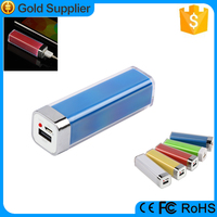 best promotional gifts lipstick 2600mah cute portable battery charger