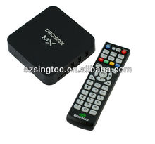 dual core android smart tv box g-box midnight MX2 a9 android box