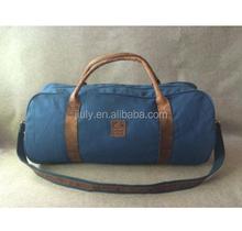 Fashion Canvas Leather Duffel Bag Gym Travel bag
