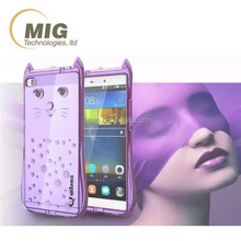 Mobile phone cover High quality TPU case cute cat shaped for iphone 6s 6 plus colorful mobile phone case