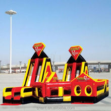 inflatable obstacle run fire truck United States