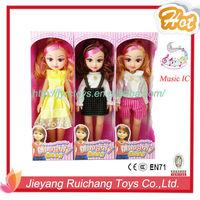 2015 new designed girl dress games dolls wholesale