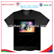 2013 hot selling high quality luminouse light up t shirt led,custom sound activated equalizer el t-shirt suppliers
