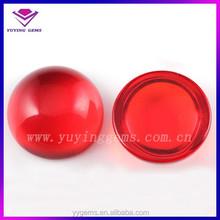 orange cubic zirconia round cabochon china lab created gemstone
