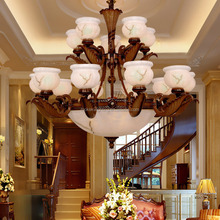 brown color Glass chandelier for hotel