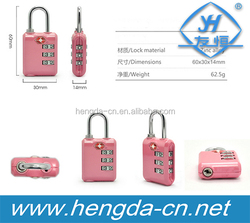 YH9100 New design tsa lock/ 3 digital combination padlock/ luggage lock