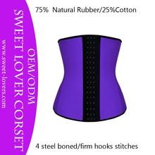 2015 rubber underbust sport colombian corset factory latex waist training corset