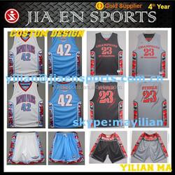 digital sublimation basketball jersey Digital printing men's reversible basketball tops