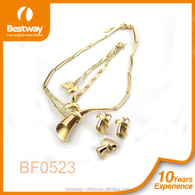 Fashion gold plated jewelry big costume jewelry sets for lady BF0523