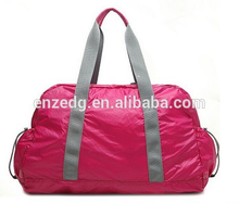 promotinal nylon tote foldable travelling bag