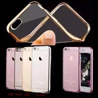 Best Selling Soft TPU Gel Mental Design Phone Case for iPhone 6,Clear Custom Case for iPhone 6