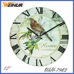 12inch Round Coffee theme design glass wall clock