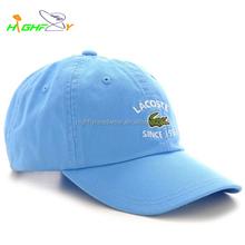 OEM service custom designed embroidery logo washed 6 panel unstructured baseball polo cap