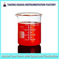 Glass Beaker With Spout and Graduation, Laboratory Glassware