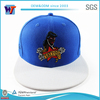 Blue Snapback Cap 3D Embroidery Fitted Snapback Hat