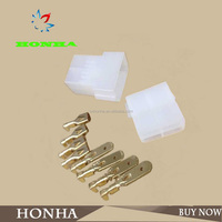 DJ7049-6.3-11 21 white PA66 4 pins male and female wire harness motorcycle connector