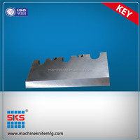 chipper knife with hardened cutting edge