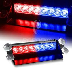 LED car strobe light Red+Blue color/ led strobe light