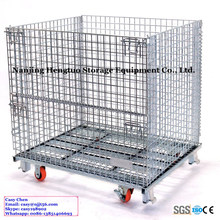 Steel Collapsible Wire Mesh Container / Storage Box for Pallet Rack