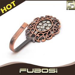 Fubosi Hot sell metal diamond curtain rods hooks wholesale