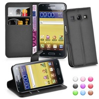 Wallet Flip Leather Moblie Phone Case Cover with Card Slots for Samsung Galaxy Core Plus