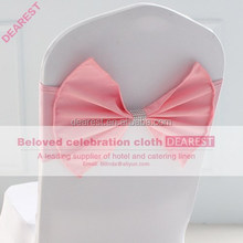 pink new model high quality hot selling fashion wedding chair sash