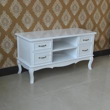2015 cheapest fashion high quality E1 wooden white MOQ tv stand