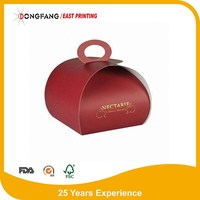 whole food grade paper cupcake packaging box