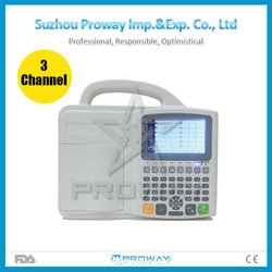 ECG-A8803 Best Price of CE Marked Digital 3 Channel 12 Leads Portable ECG Machine