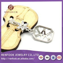 RenFook High Quality Customized charms silver necklace pendant