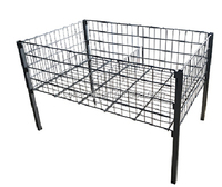 Adjustable sales wire promotion cages in supermarket