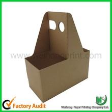 custom wholesale cardboard 4 pack bottle carrier