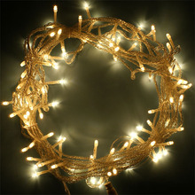 Factory wholesale christmas decoration pvc black wire warm white led outdoor garden string light holiday lighting