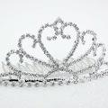 Alto quanlity baratos tiaras/diademas diamantes de imitación de diseño para las niñas