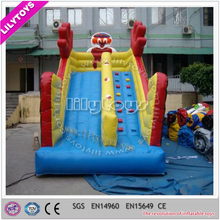 Outdoor large inflatable toboggan slide for children and adult/bouncy tall slide