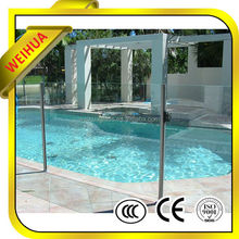 8mm10mm12mm tempered stainless steel pool fence glass with CE certificate