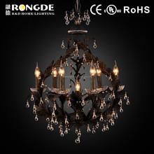 Luxury gold crystal chandelier lightings lamp for sale