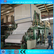 1092mm daily capacity 1.8-2 tons Small waste paper recycling machinery toilet paper making machine