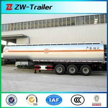 3 axles 3 compartment oil fuel tanker truck trailer for sale
