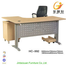 Compact Wood Professional office table executive curved office desk