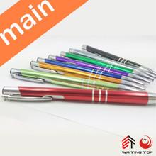 promotional logo printed aluminium metal ballpoint pen with parker refill