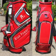 2015 custom genuine leather golf caddy bag