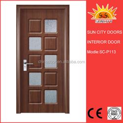Latest Waterproof Main Interior black wooden Door Design SC-P113