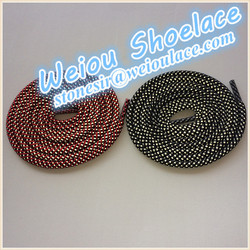 Customized polyester three colored crazy shoe laces for asics shoes