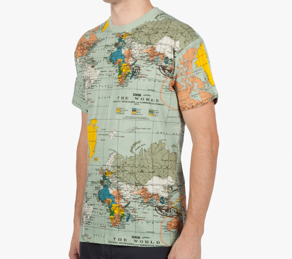 World map unisex full size printing t shirt view printing for Full size t shirt printing