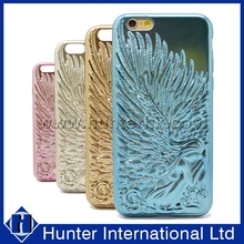 Hot Sale Plated Angel Wings TPU Case For iphone6