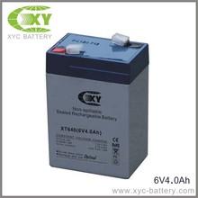 6V4AH Sealed lead acid battery for100-LED High Output Solar Security Light